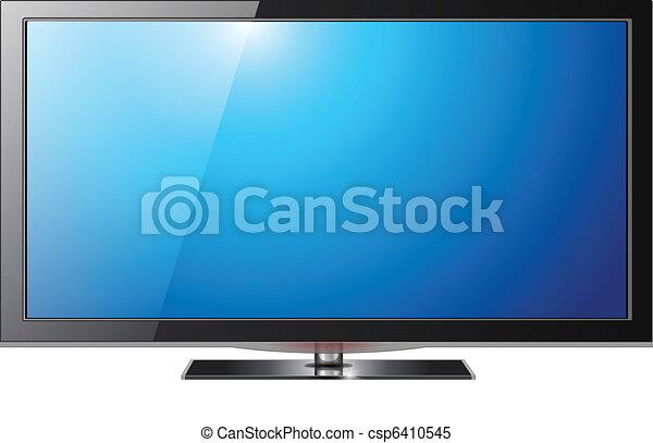 tv, écran plat visualisation - csp6410545