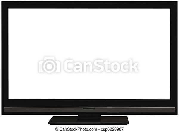 tv, écran plat visualisation, coupure, large - csp6220907