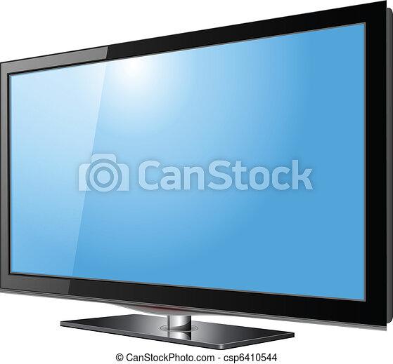 tv, écran plat visualisation - csp6410544