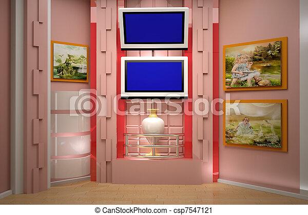 tv εργαστήρι καλιτέχνη  - csp7547121