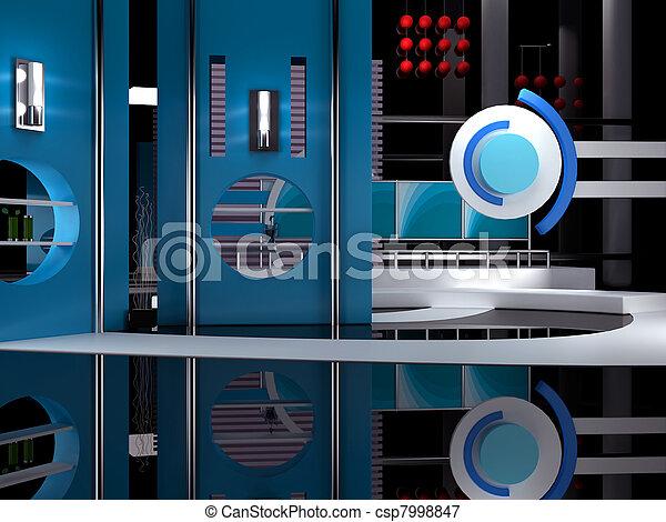tv εργαστήρι καλιτέχνη  - csp7998847