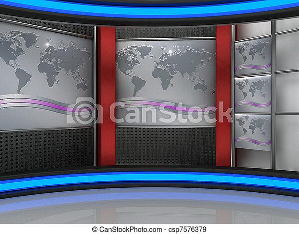 tv εργαστήρι καλιτέχνη  - csp7576379