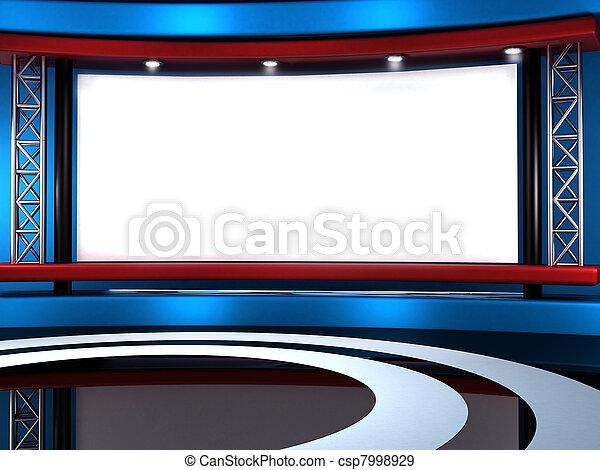 tv εργαστήρι καλιτέχνη  - csp7998929