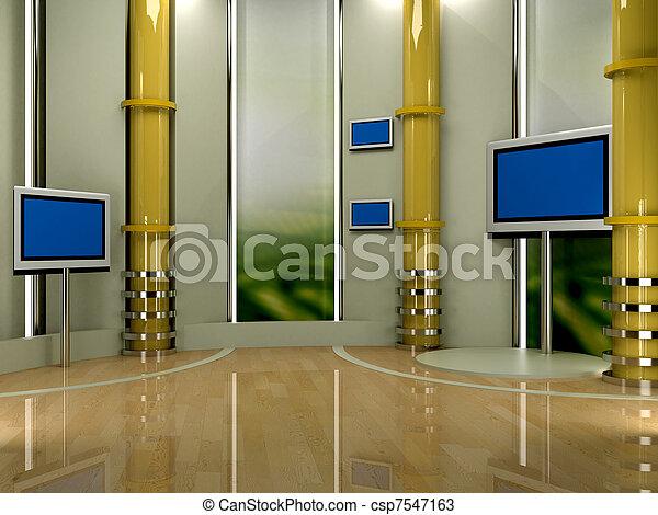 tv εργαστήρι καλιτέχνη  - csp7547163