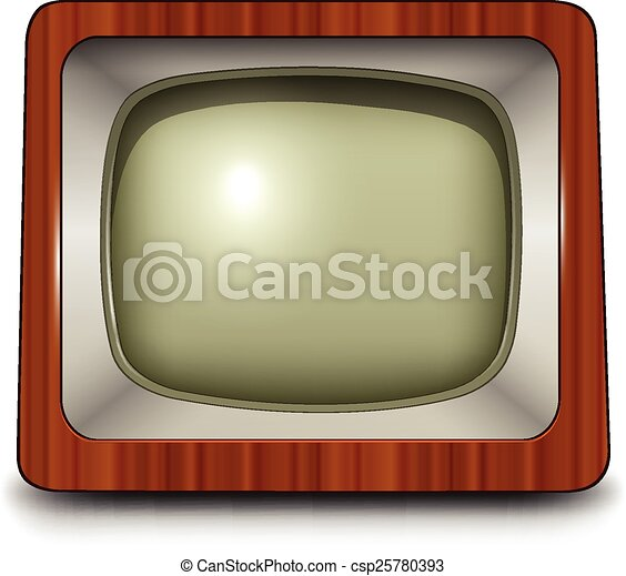 tv, アイコン - csp25780393