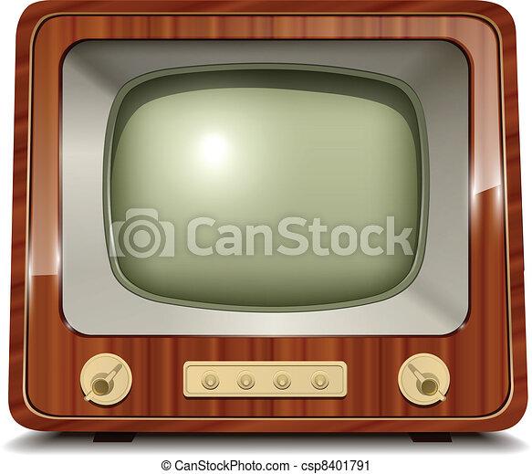 tv, 古い - csp8401791