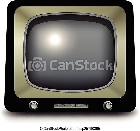 tv, 古い - csp25780395