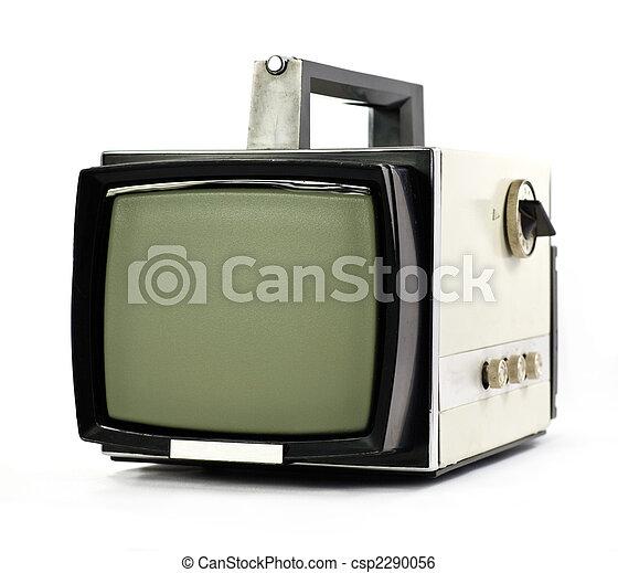 tv, 型, セット, ポータブル - csp2290056