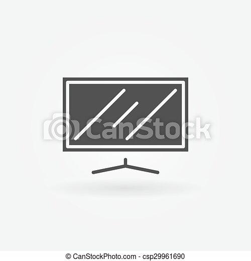 tv, 平らなスクリーン, アイコン - csp29961690