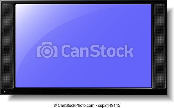 tv, 平らなスクリーン - csp2449145