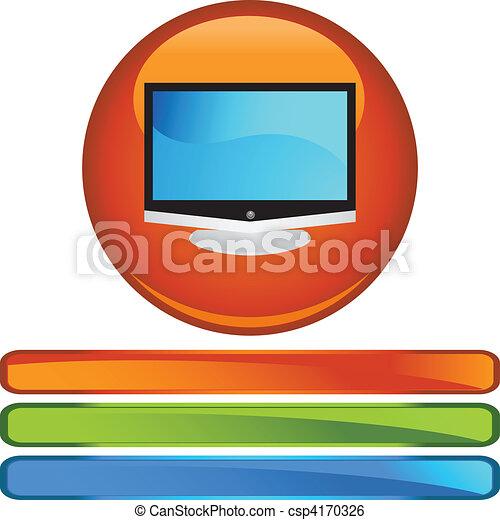 tv, 平らなスクリーン - csp4170326