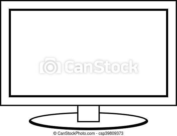 tv, 平らなスクリーン, ベクトル, モニター - csp39809373