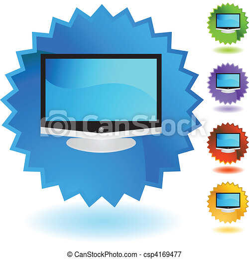 tv, 平らなスクリーン - csp4169477