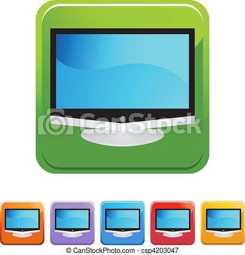 tv, 平らなスクリーン - csp4203047