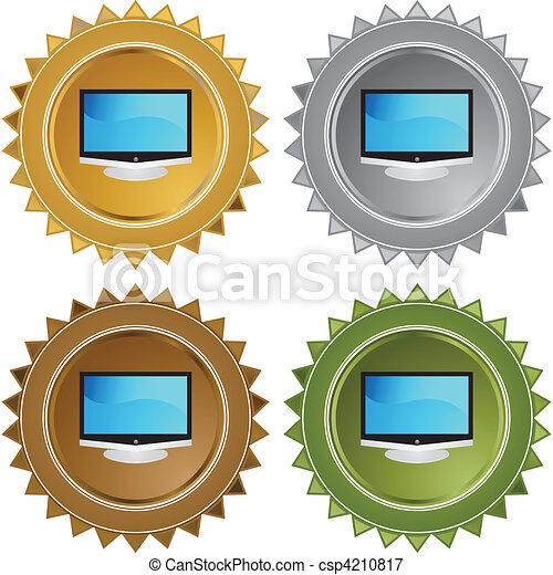 tv, 平らなスクリーン - csp4210817