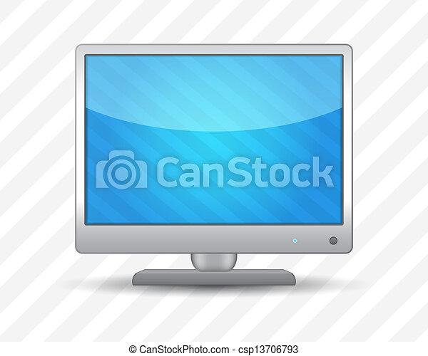 tv, 平らなスクリーン - csp13706793