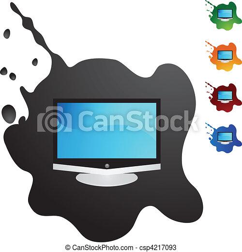 tv, 平らなスクリーン - csp4217093