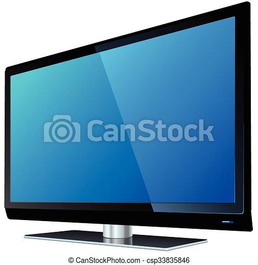 tv, 平らなスクリーン, lcd - csp33835846