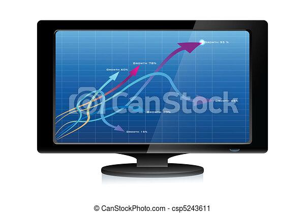 tv, 成長, 矢 - csp5243611