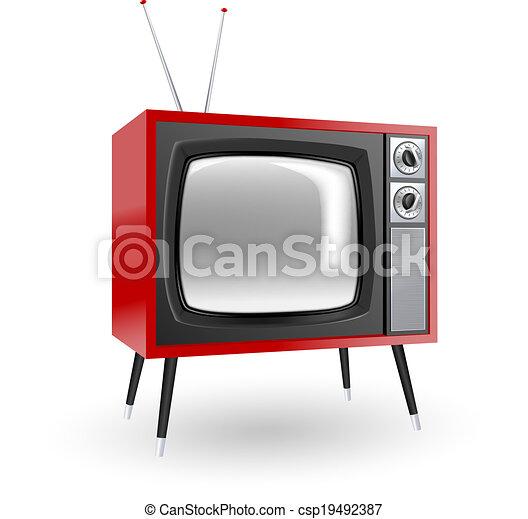 tv, 流行, レトロ - csp19492387