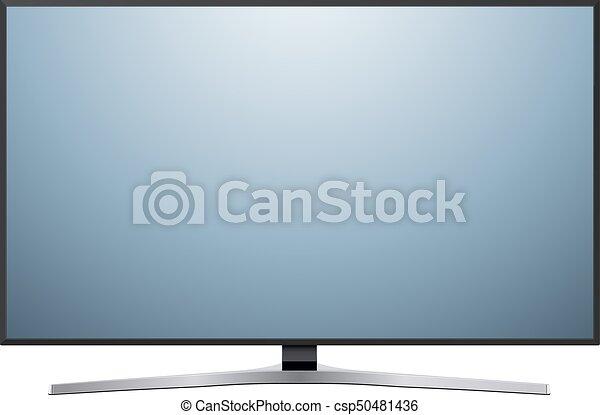 tv, 白, 隔離された - csp50481436