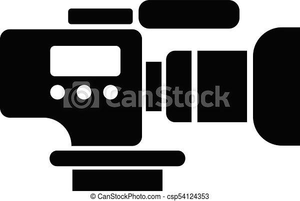 Tv camera icon simple black style tv camera icon simple for Camera tv web