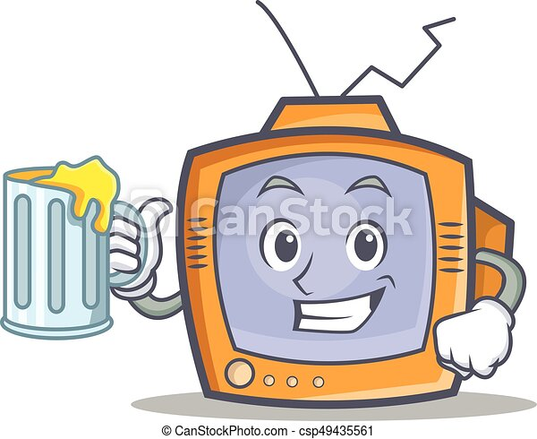 TV character cartoon object with juice - csp49435561
