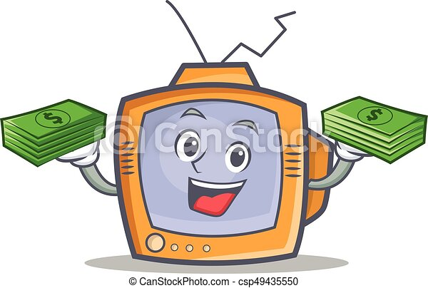 TV character cartoon object with money - csp49435550