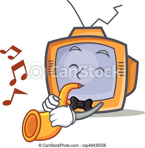 TV character cartoon object with trumpet - csp49435556