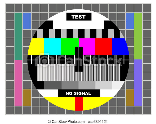 Tv Color Test Pattern Test Card For Pal And Ntsc Stunning Test Pattern