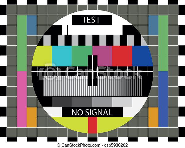 tv color test pattern illustration