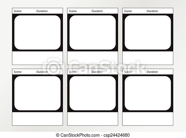 Tv Commercial Frame Storyboard Template X Professional Of