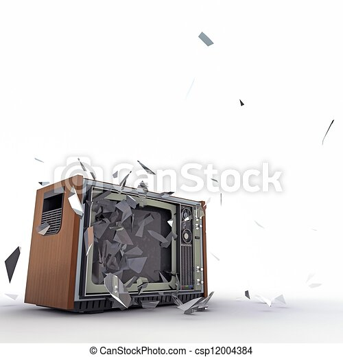 tv, exploser - csp12004384