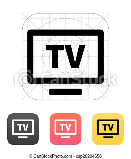 tv, flatscreen, icon. - csp26204650