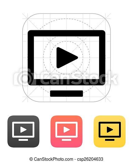 tv, flatscreen, icon. - csp26204633