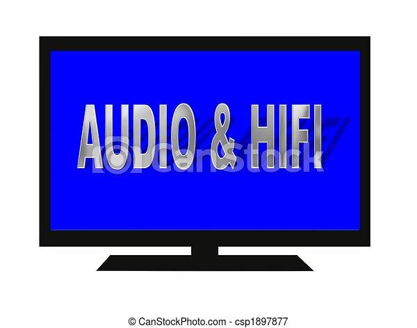 tv, flatscreen, isolé - csp1897877