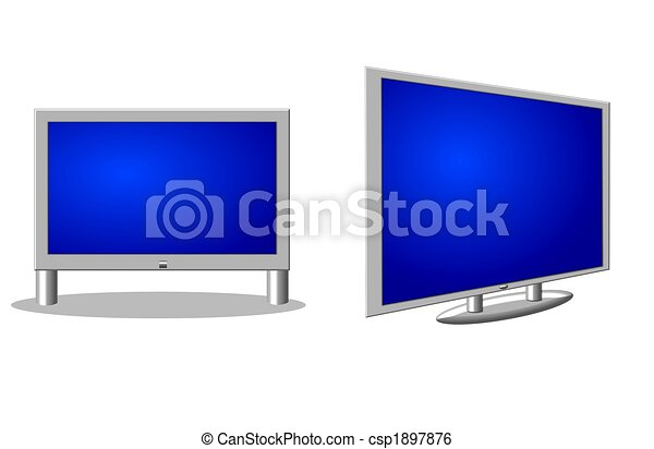 tv, flatscreen, isolé - csp1897876