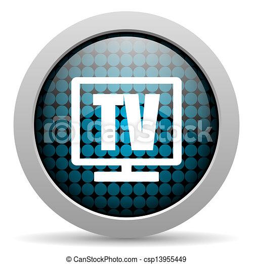 tv glossy icon - csp13955449