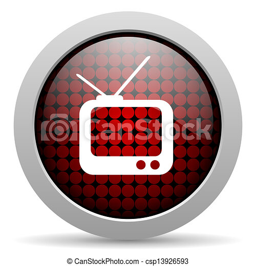 tv glossy icon - csp13926593