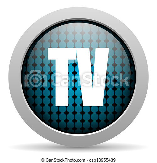 tv glossy icon - csp13955439