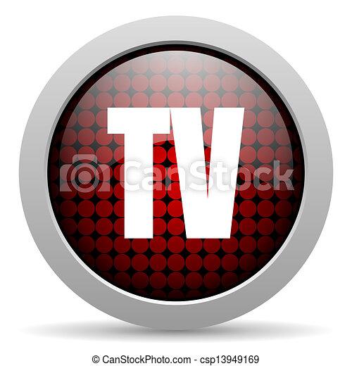 tv glossy icon - csp13949169