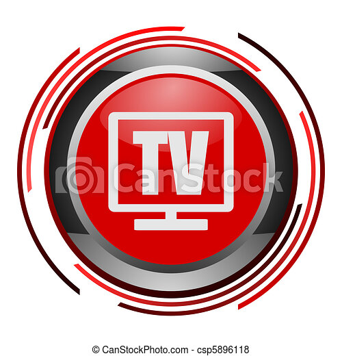 tv glossy icon - csp5896118