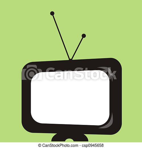 tv, graphique, retro - csp0945658
