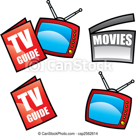 TV Guide and Television - csp2562614