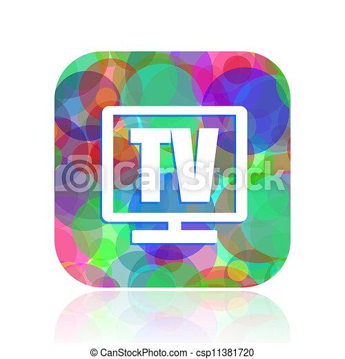 tv icon - csp11381720
