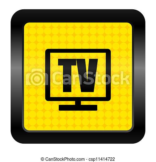 tv icon - csp11414722