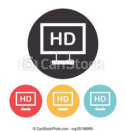 TV icon - csp35196999