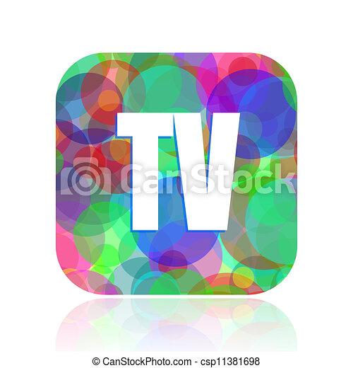 tv icon - csp11381698