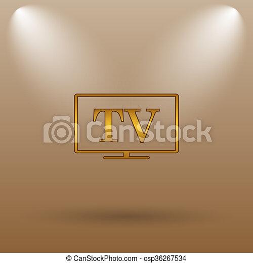 TV icon - csp36267534