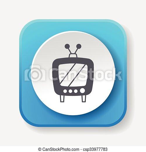 TV icon - csp33977783